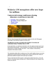 GM+Mosquitoes+and+Malaria+Eradication