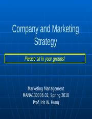 class 2 _ Company and Marketing Strategy.pptx