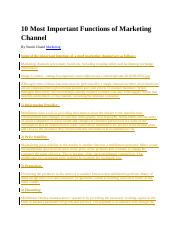 10 Most Important Functions of Marketing Channel.docx