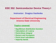 6a Semiconductor Device Theory I