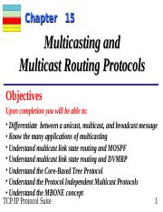Chap-15 - Chapter 15 Multicasting and Multicast Routing Protocols
