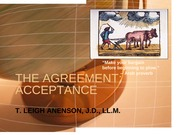 K - THE AGREEMENT - ACCEPTANCE