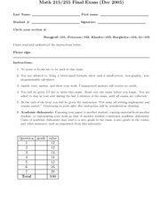 Final Exam - 2005F - SOLUTIONS