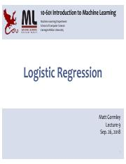 9 - Logistic Regression