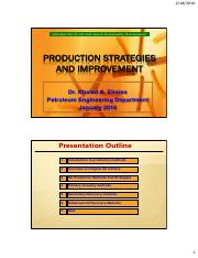 Production strategies and improvement 55