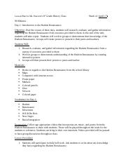 Course Project-lesson plan