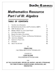 Math Resource Part I - Algebra