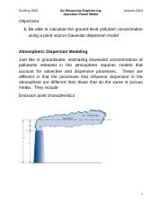 EnE 3200 - 2016 - Air Resources Engineering - Gaussian Plume Model.docx