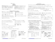 Integrals Cheat Sheet