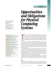opportunities and obligations for physical computing systems