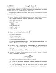 sample1exam2 (Math 121)