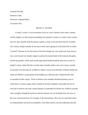 Morality and Mental Health Paper