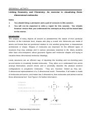 CEM1000W Session 4 Revised - Linking Geometry and Chemistry Activity