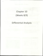 Chapter 10 Differential Analysis Lecture Slides