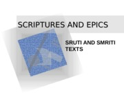 2. Scriptures and Epics