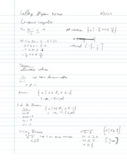 College Algebra Notes - 1.2 - Linear Inequalities in One Variable