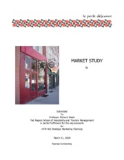 MARKET STUDY report for Strategic Marketing Planning