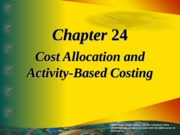 Cost Allocation(ABC Analysis)
