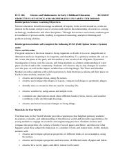 ECE 206Science and Mathematics in Early Childhood Education05.doc