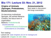Biology 171 Lecture 33