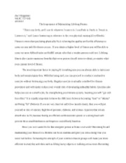 Lifelong Fitness Essay