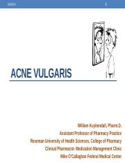 ACNE Vulgaris Students 2012-2013