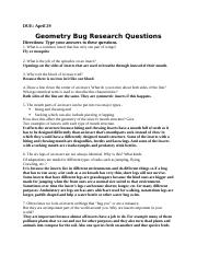 Bug Project Questions.docx