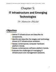 Chapter 5 IT Infrastructure and Emerging Technologies