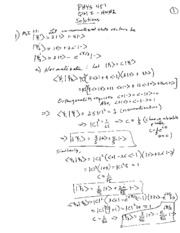 Physics 451 HW02 Solutions