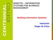 Class 12 - Building Information Systems W15