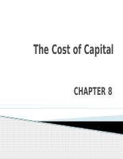 CH8_The Cost of Capital.pptx
