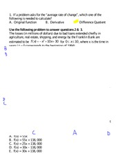 Quiz 6 Solution on Business Calculus Spring 2015