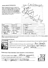Central America worksheet