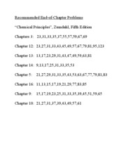 CH 301 - End of Chapter Problems