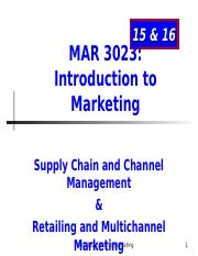 MAR3023_Chapter 15_16_Supply_Retail