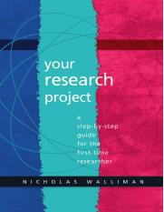 Dr Nicholas Walliman - Your Research Project_ A Step-by-Step Guide for the First-Time Researcher-Sag