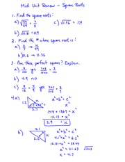math 9 square roots notes