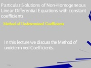 06 Method of Undetermined Coefficients
