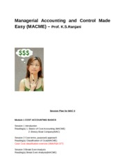 Management Accounting Made Easy (MACME)