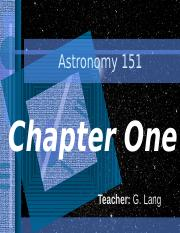 ASTR 151 Chapter One