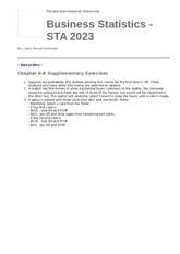 STA 2023 - Chapter 4-A Review