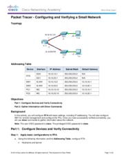 4.1.4.5 Packet Tracer - Configuring and Verifying a Small Network Instructions