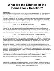 iodine clock method coursework