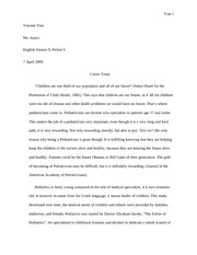 Career essay rough draft