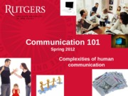 Class 7 - Complexities of Human Communication