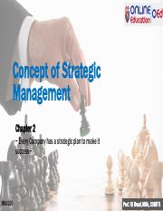 MBA106 Chapter 2 Concept of Strategic Management.pdf