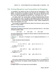 Section 4: Solving Equations and Inequalities by Graphing