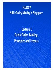 Lecture 1  Public policy-making - Principles and Process.pdf