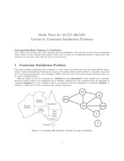 Constraint Satisfaction Problems Notes