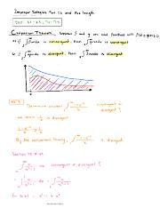 Improper Integrals Part. I I and Arc length
